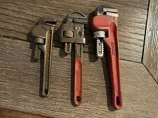"""Vintage PIPE WRENCHES 5.5""""-8"""" GUARANTEED STEEL, ERIE TOOL"""