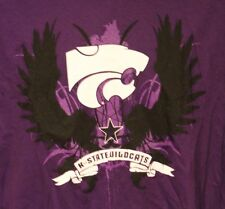 KANSAS STATE WILDCATS FOOTBALL DISTRESSED LOGO ADULT LARGE GRAPHIC TEE T SHIRT