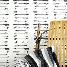 Indian Arrows Allover Stencil - Tribal Wall Pattern Stencil - Fun DIY Home Decor