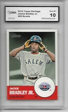 2012 Topps Heritage # 96 Jackie Bradley Jr Rookie Card Red Sox Graded GMA 10 Gem