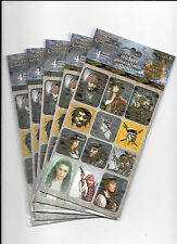 Disney Pirates Of The Caribbean Stickers Party Favors 20 Sheets New Free Ship