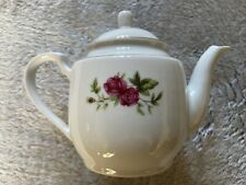 Small China Teapot Tea For One Pink Red Roses Flower Design 117mm High