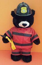 """16"""" Build a Bear Workshop Black Bear Fireman Plush Kids Toy Babw Grizzly"""