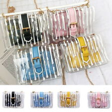 Women Clear Chain Crossbody Bag Transparent Shoulder Handbag Purse Pouch US PVC