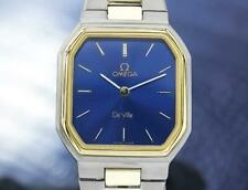 Omega Swiss Lady Deville Gold Plated Stainless Quartz 25mm Watch 1980s J6605