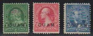 D1200: Guam #1, 2, 5 Used, F-VF, Sound; CV $100