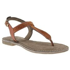 60538f3b4651 New Womens Lotus Orange Tan Duca Leather Sandals Flats Buckle Straps