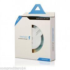 Caricatore Wireless ad Induzione Bianco - Standard QI - 1A - Indicatore LED Blu