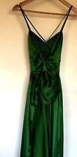 Formal Dress, Emerald Green Soft Satin Size 8