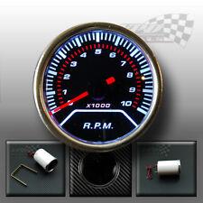 Rev counter gauge tachometer 0-10000 rpm dash panel pod mount smoked 52mm