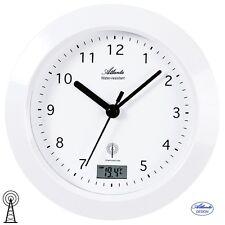 Atlanta 47 Reloj De Pared Baño Radio Análogo Blanco badezimmer-uhr Termómetro