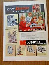 1957 Keystone Cameras Color Movies Ad   Christmas Theme