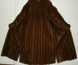 Revillon Russain Sable & Mahogany Mink Fur Coat Size 2-4 FREE SHIP Excell Condit
