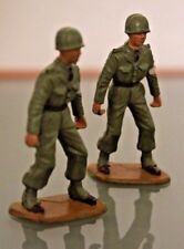 Starlux Plastic Old Pair Of Soldiers Fire Rescue Porter