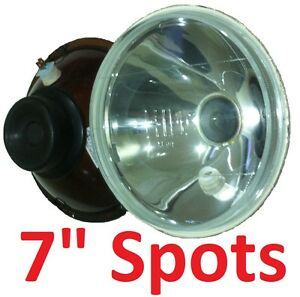 "1pr 7"" Spot Pencil Headlights fit Land Rover Series 1 2 2A 3"