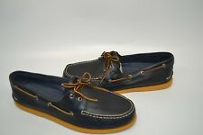 Sperry Top Sider Men's 13 M Authentic Original 2-Eye Color Sole NAVY STS15663