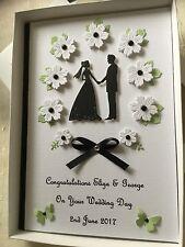 Handmade Personalised Boxed Card Wedding Engagement Anniversary Congratulations