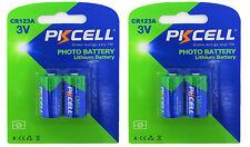 4 X cr123a Batterie au LITHIUM (2 blistercards a 2 batteries) Produits De Marque Pkcell