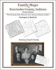 Family Maps Kosciusko County Indiana Genealogy IN Plat
