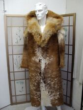 BRAND NEW BROWN & WHITE COW W COYOTE FUR COAT JACKET MEN MAN SIZE 42-44 $2205off