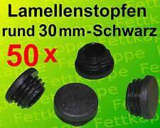 50 Lamellenstopfen Schwarz Ø aussen 30 mm WS 2,5 bis 4,5 mm Rundrohrstopfen