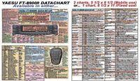 YAESU FT-8900R  FT-8900 AMATEUR HAM DATACHART EX LARGE GRAPHIC INFO (INDEXED)