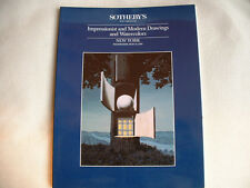 SOTHEBYS AUCTION CATALOG Impressionist & Modern Drawings & Watercolors 5/10/89