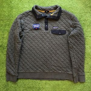 Patagonia Organic Cotton Quilted Snap T Jacket Pullover Sweatshirt Men's Large