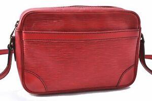 Authentic Louis Vuitton Epi Trocadero 23 Red Shoulder Bag M52317 LV A6894