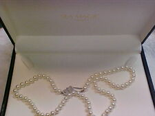 Mikimoto RARE Sea Magic 18'' Pearl Necklace white 14K 5.50 to 6.00mm with case