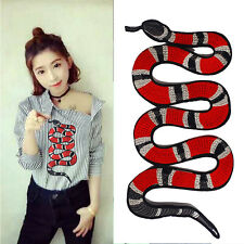 Embroidery Snake Pattern Cloth Patches Applique Decoration Sew On Patches Craft