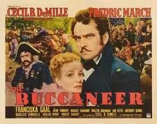 THE BUCCANEER Movie POSTER 22x28 Half Sheet B Yul Brynner Charlton Heston Claire