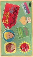VINTAGE 1962 BARBIE KEN TRAVELING PAPER DOLL HD LASER REPRODUCTION~UNCUT~LO PR