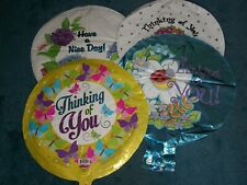 Lot of 13 Thinking of You - Have a Nice Day Foil/Mylar Balloons, NEW