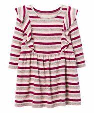 Gymboree Berry Stripe Ruffle Feathersoft Dress Size S (5-6)
