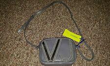 $300+ Versace Jeans Couture E1VMBBJ7 Women Gray Messenger bag purse
