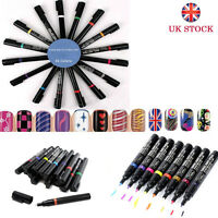 16 Colours To Choose Nail Art Pen Painting Design Tool Drawing Gel DIY UV Style