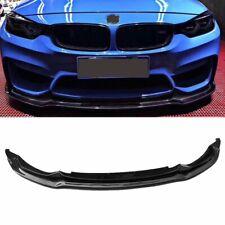 For BMW F80 M3 F82 F83 M4 V Style Carbon Fiber Front Bumper Lip Spoiler Splitter