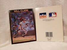 VERY RARE Will Clark 1989 Starline Birthday Card, San Francisco Giants, NICE!