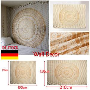 Wandteppich Deko Indisch Mandala Tapisserie Wandbehang Bettdecke Strandtuch neu