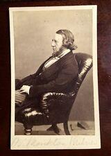 Carte-de-visite cdv photograph of LORD HOUGHTON RICHARD MONCKTON MILNES