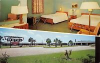 Perry Florida 1950-60s Postcard Westgate Motel (formerly DeLuxe Motel)