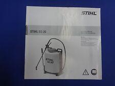 Stihl SG 20 Backpack Sprayer Instruction Manual