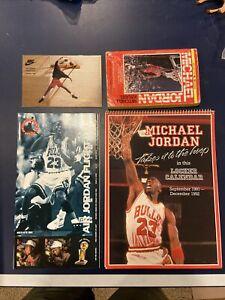 1991-1992  Michael Jordan Calendar, Paperback & Air Jordan Nike Club Lot.