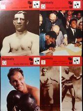 Sportscaster Cards Karate Finnish: Marciano,Corbett,Johnson-Jeffries & Raskaan