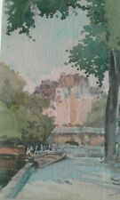 tableau aquarelle représentant Le Pont Neuf .  daté mai 1942 .XXème. signé