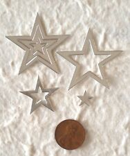 150 stars star silver shiny Diecut wedding 25th anniversary Scrapbooking Cards