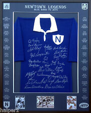 Blazed In Glory - Newtown Jets - NRL Signed and Framed Jersey
