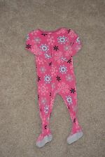 Just One You by Carter's 2T Pink Snowflake Lightweight Zip Up Pajamas