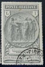 REGNO - 1923 - CAMICIE NERE  - 1 LIRA USATO CENTRATISSIMO